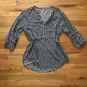 Tops - Checkered blouse